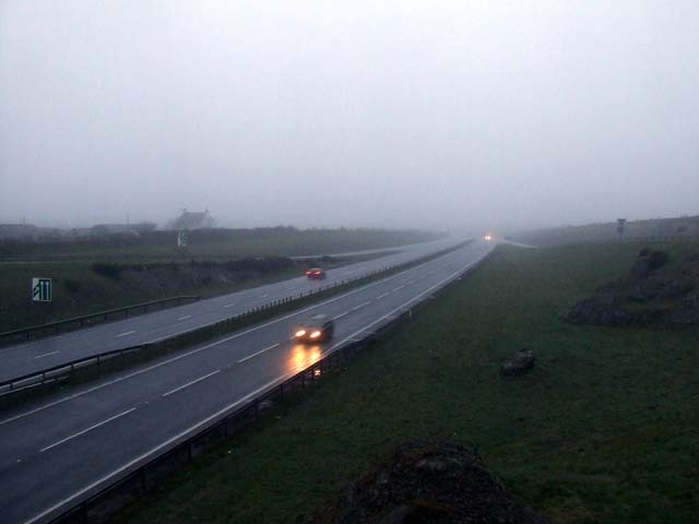 Gaerwen interchange on A55
