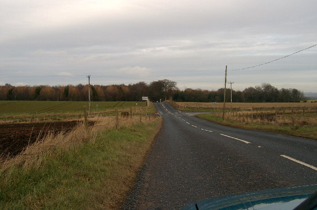 Cross roads on the B961.