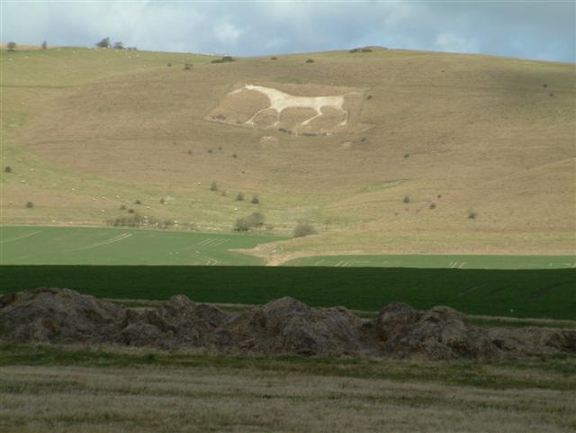 The White Horse, as seen from Alton Barnes