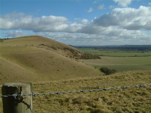 Looking east towards Knap Hill