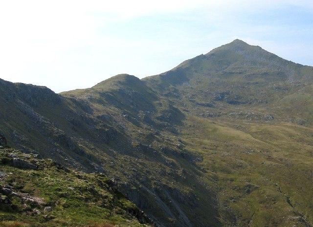 East ridge of Sgurr nan Ceathreamhnan