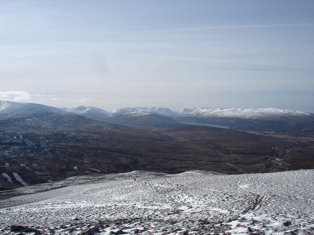 View west from Meall Cuaich