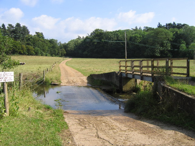 Ford across River Ash at Watersplace Farm