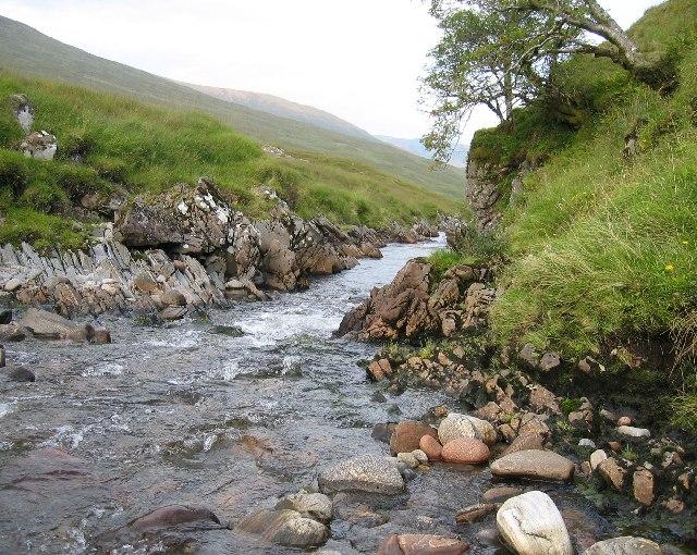 Abhainn Sithidh that flows into Loch Mullardoch