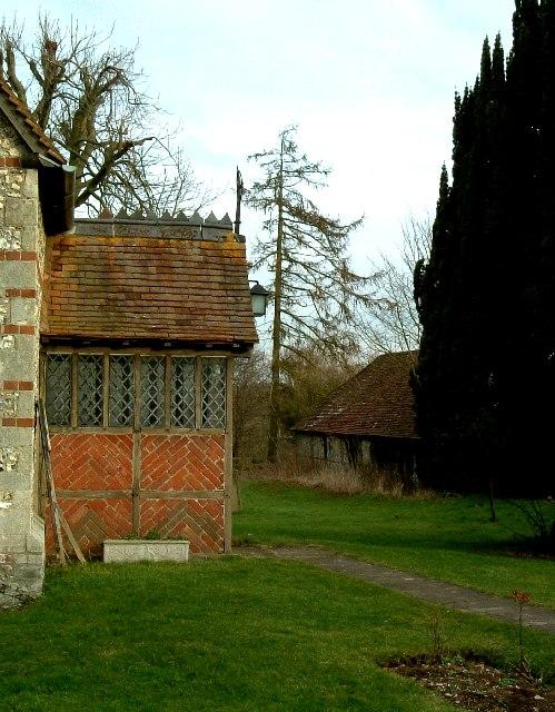 Church Porch & Old Barn, Hawridge