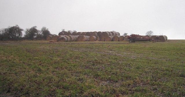Bales of Hay, Bury Hill