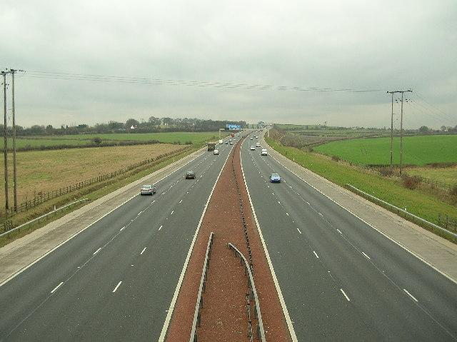 M1 between J47 and J46, Garforth