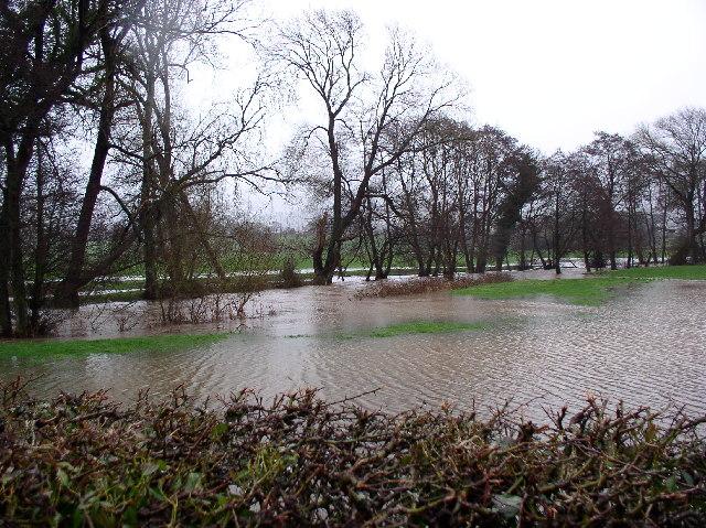 River Clwyd in flood