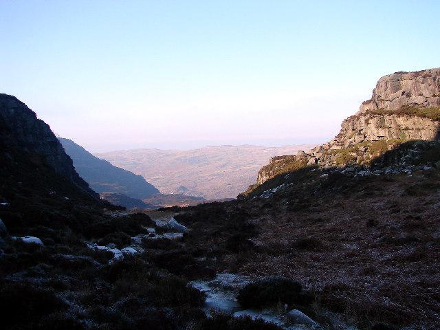 Summit of Bwlch Tyddiad