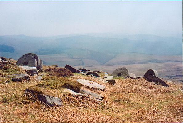 Millstones below Stanage Edge