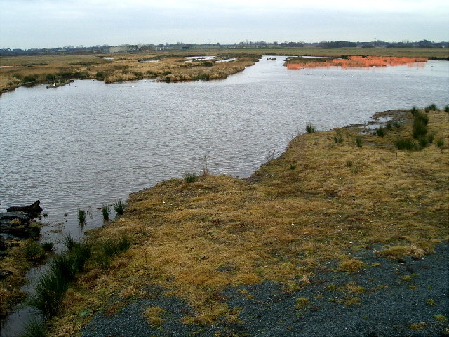 Looking over the new Woodend Wetlands