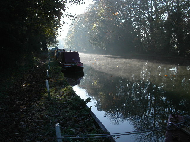 Narrow boats moored on Stroudwater canal