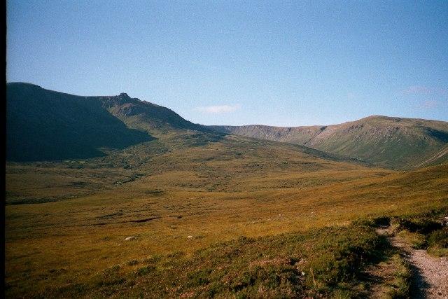 View of Beinn a'Bhuird from  upper Glen Quoich