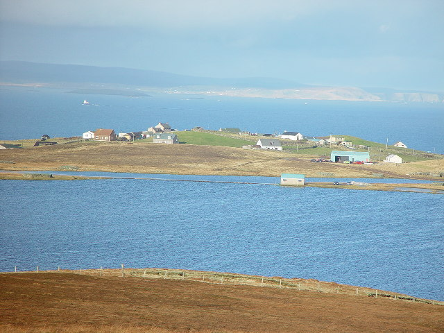 View north from Bringers, Whalsay, Shetland