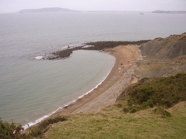 Redcliff Point from the clifftop, Weymouth Bay