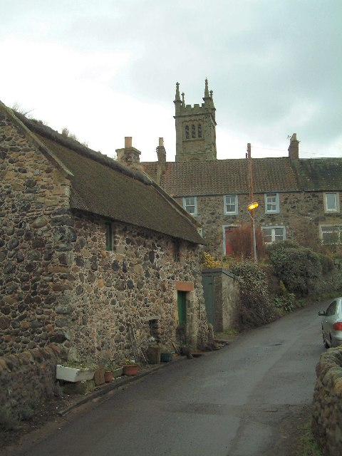 Collessie village and church