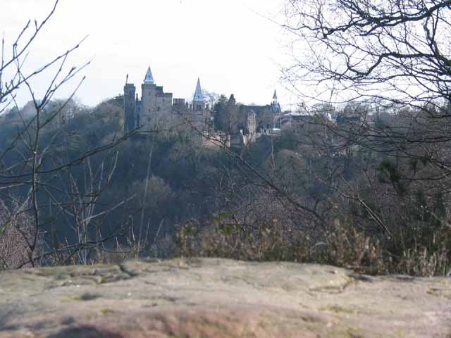 Alton Castle  from Toothill Rock