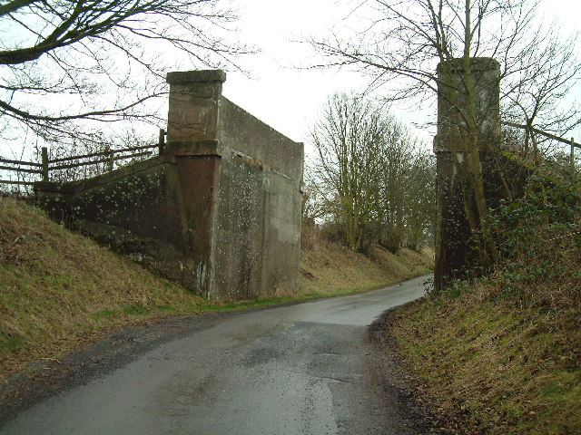 Remains of a railway bridge