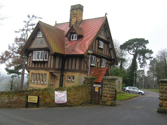 East Lodge at the entrance to David Salomons House