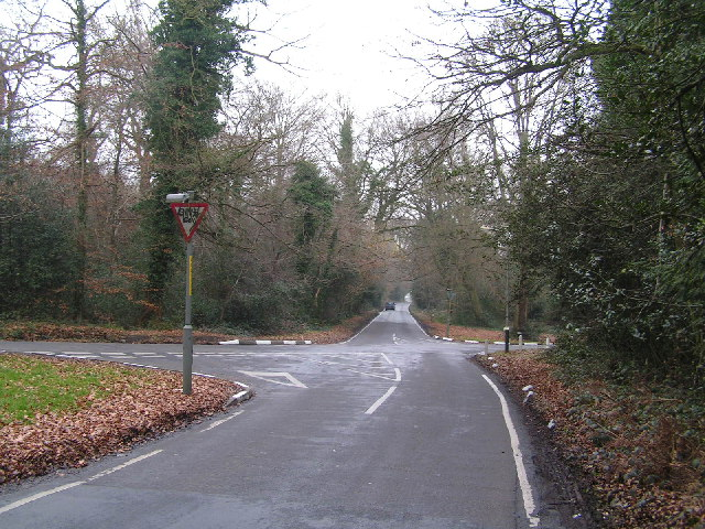 Road junction on Southborough Common