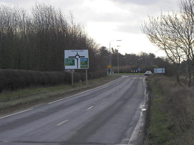 The B1249 near Driffield