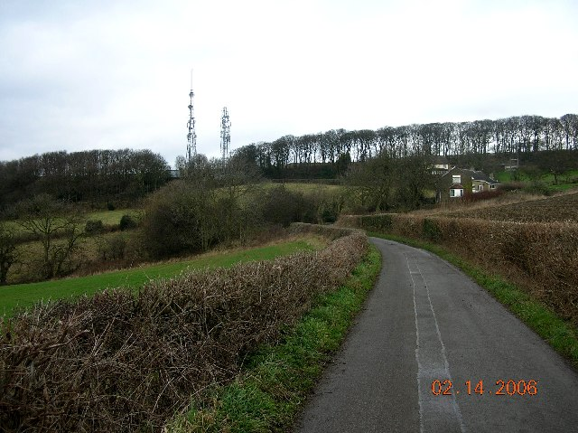 TV masts at Hundall in NE Derbyshire