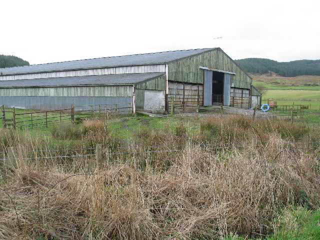 Large livestock shed at Redhouse by the B8001.