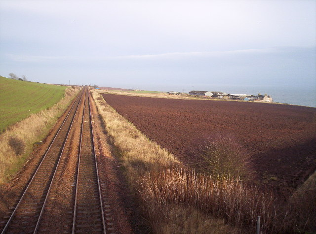 East Coast Rail Line and Boddin Farm