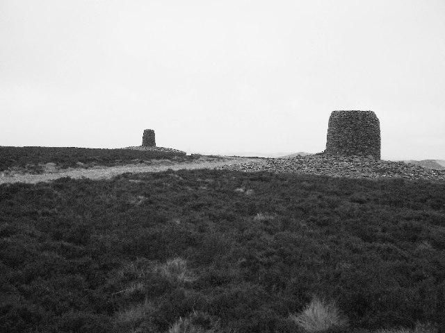 The Twinlaw Cairns, Lammermuir Hills