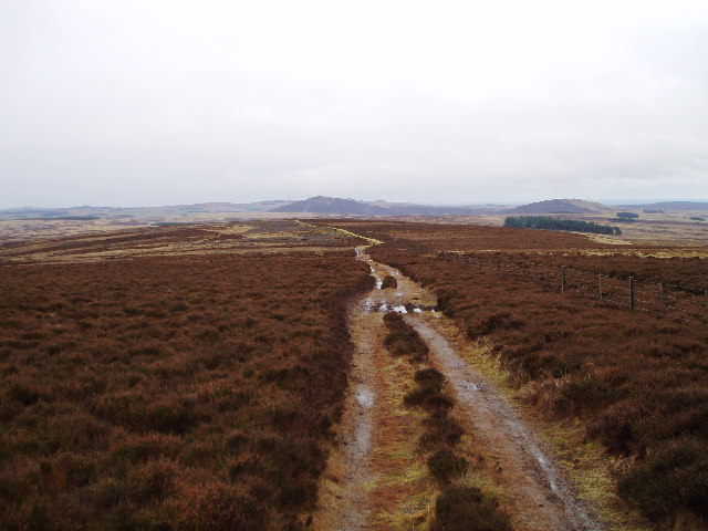 The Southern Upland Way descending from Twin Law
