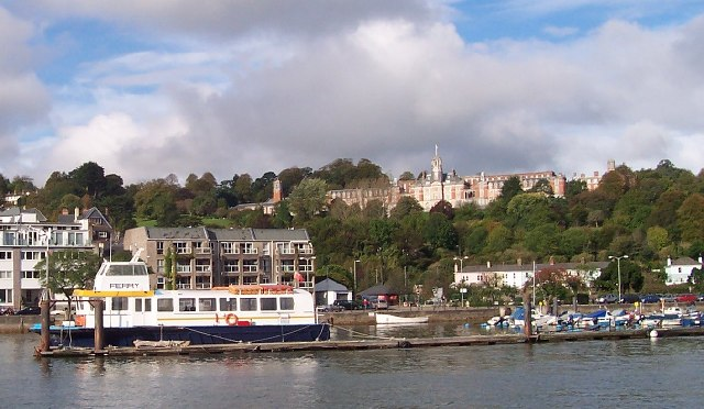 Dartmouth Naval College from the River Dart