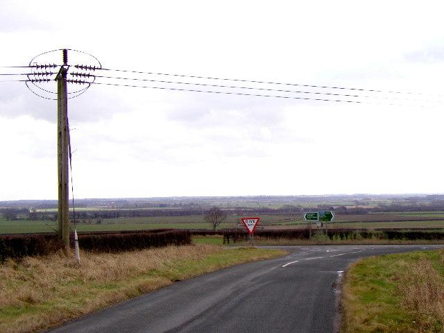 Near the A614