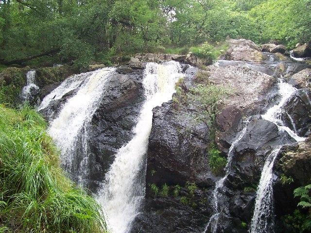 Waterfalls at Cwm Camlan near Llanfachreth