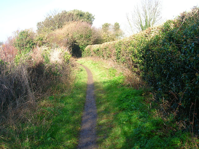 Bridleway on the outskirts of Seaford