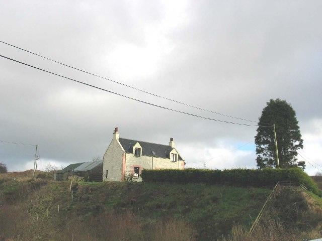 Bruiland, house near to Claonaig, Kintyre.