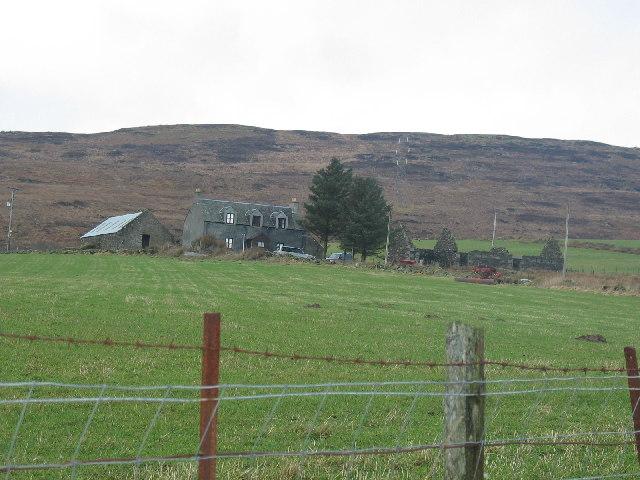 Oragaig farm buildings B842, Kintyre.