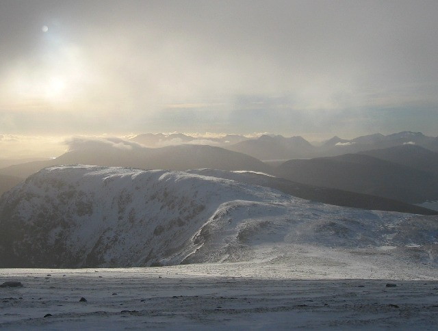 SW towards Meall Garbh