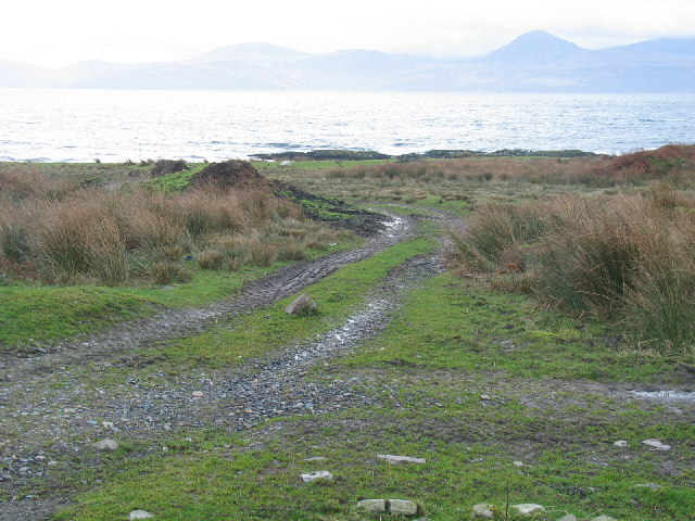 Shoreline on the northside of  Eascairt Point, Kintyre.