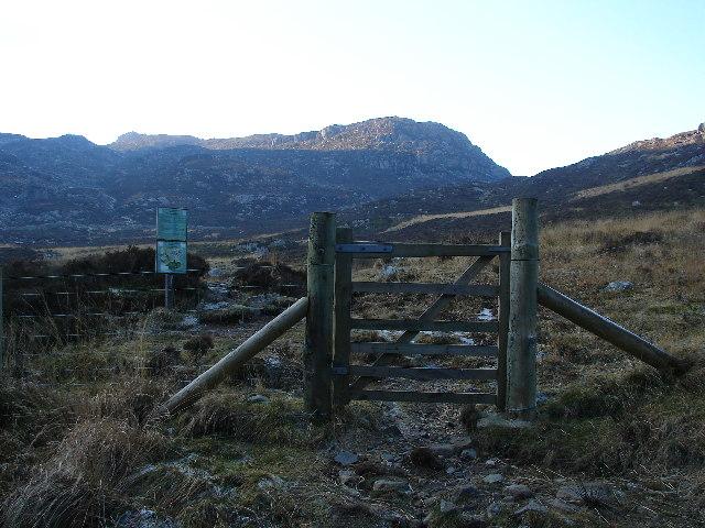 Forestry Commission Gate Near Graigddu-isaf