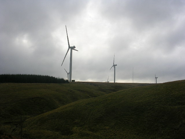 Windfarm in the Lammermuir Hills