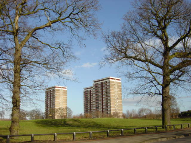 Tower Blocks from Old Rough Lane, Kirkby