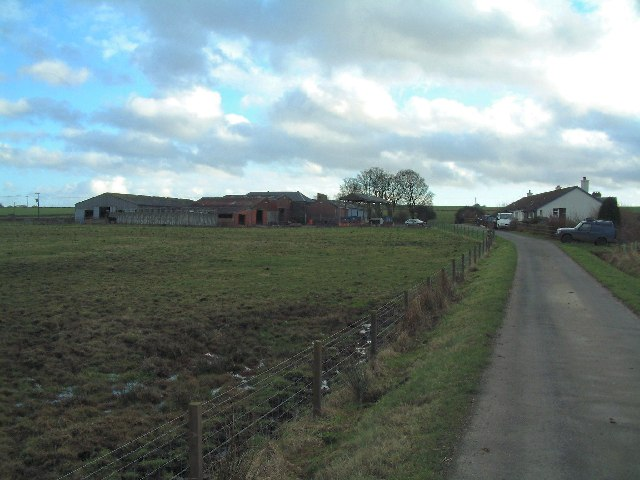 Farm cottages and farm at Langraw