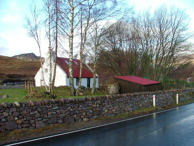 Cottage and Drystane Wall