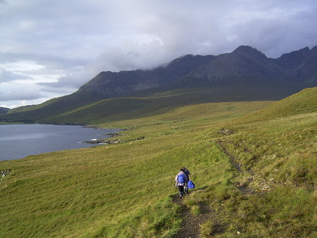 Loch Brittle and The Cuillin from the path to Rubh'an Dunain