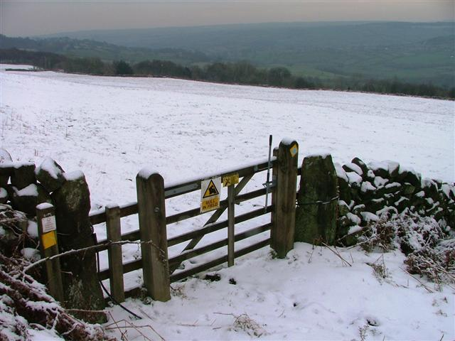 Gate on Public Bridleway to Moorcock ...