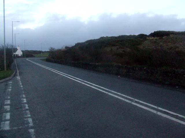 Road junction near Mona
