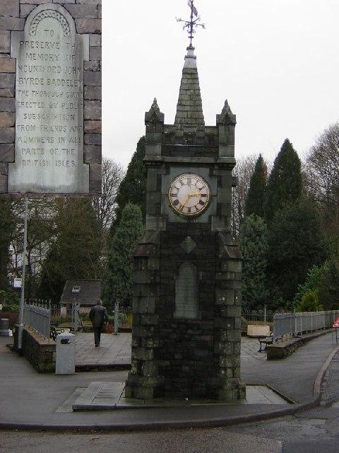 Windermere - Baddeley Memorial Clock