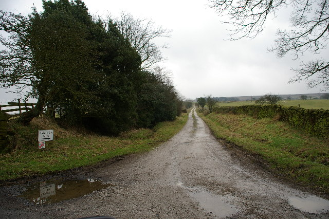 The road to Higher Gill Farm