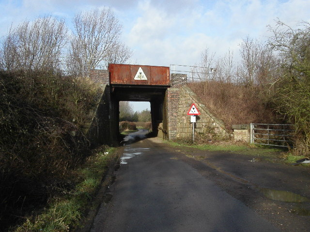Railway bridge close to Colethrop village