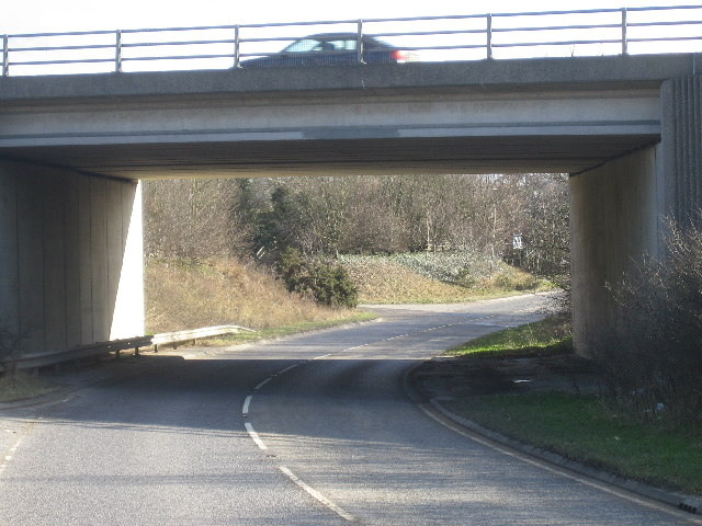 Bypass bridge over Long Leys Road